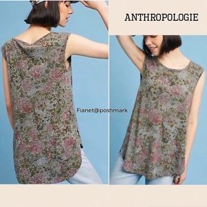 NWT Anthropologie T:La Sleeveless Floral Top